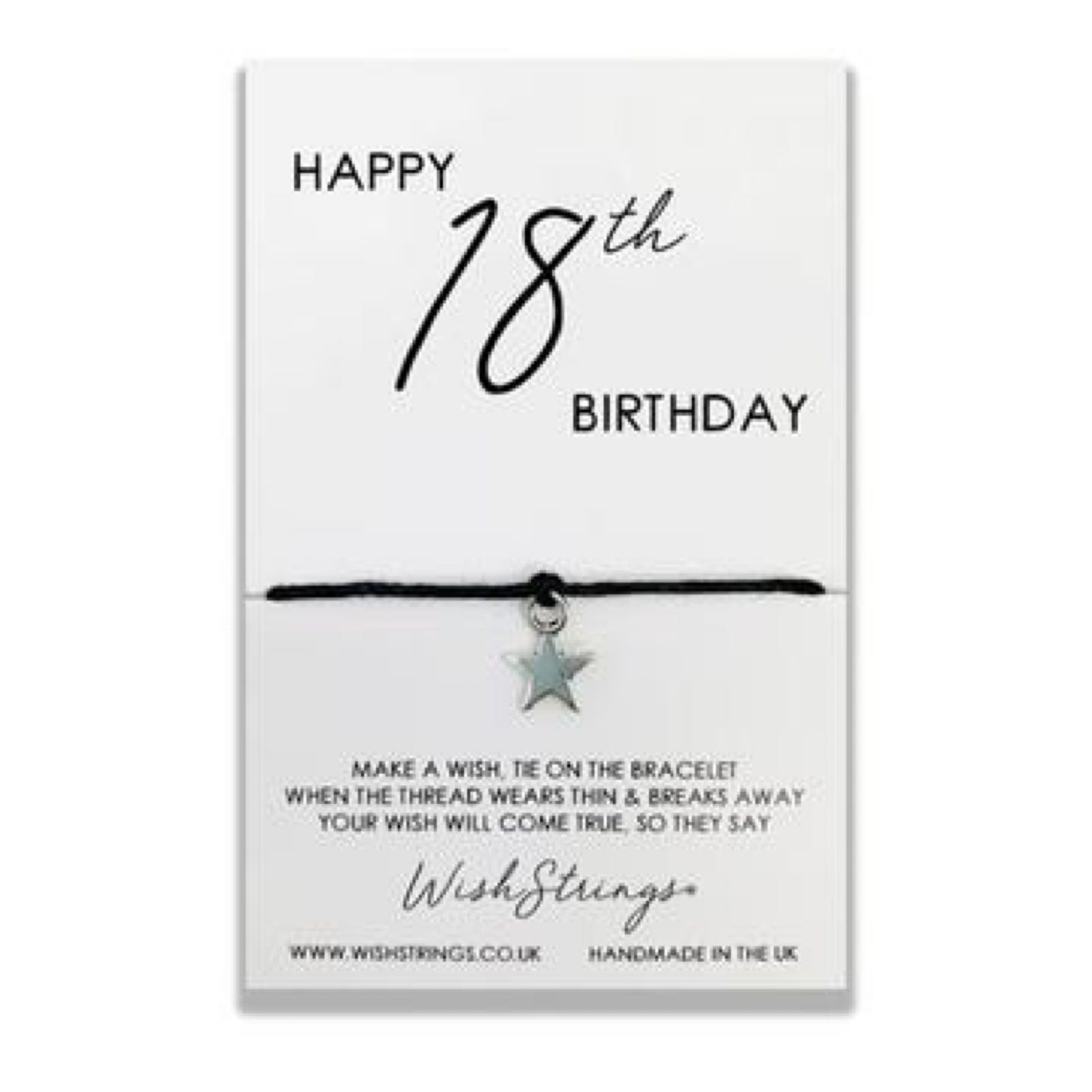 *Sale* 18th Birthday Wish String