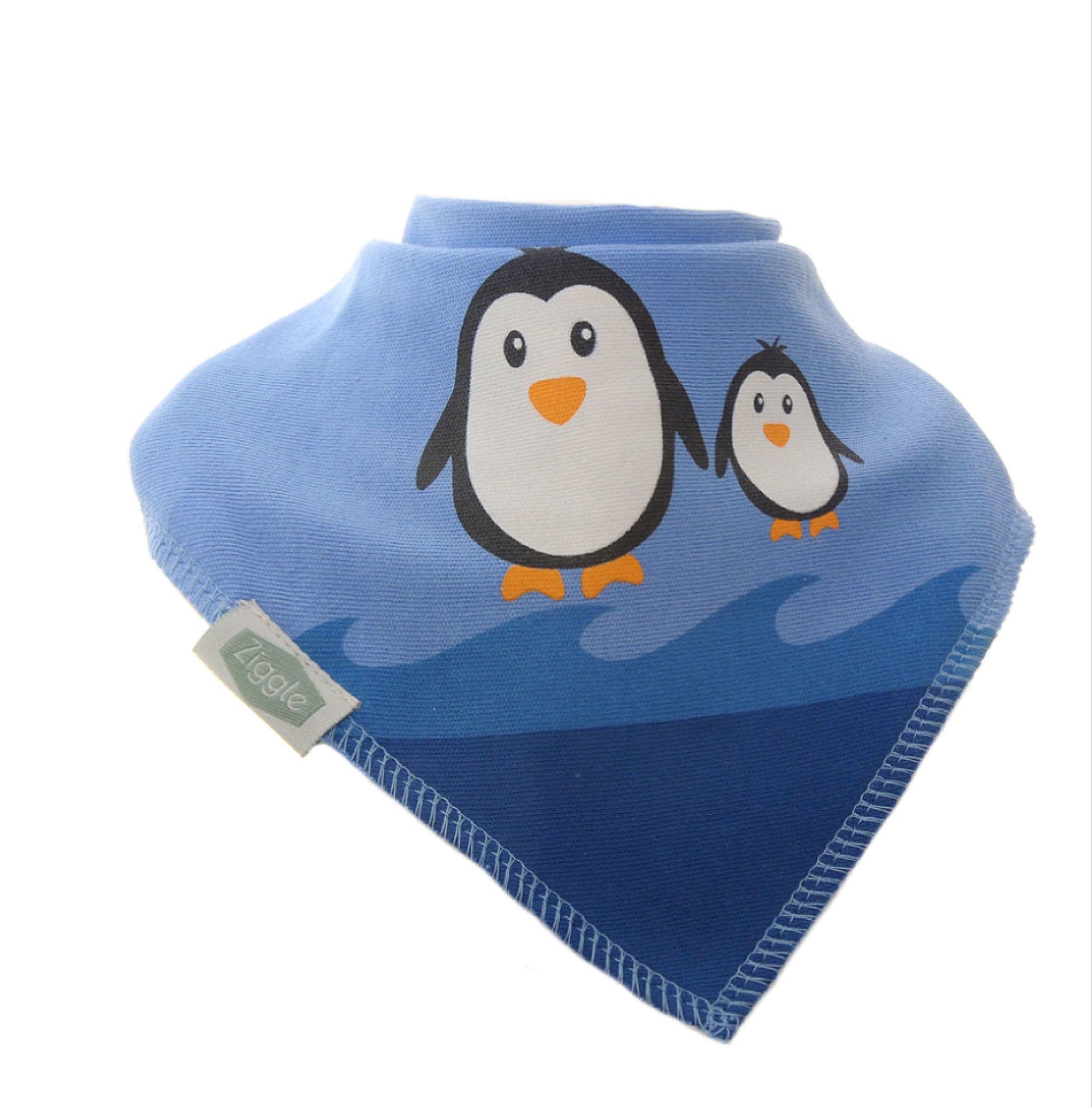 Ziggle penguin bandana bib
