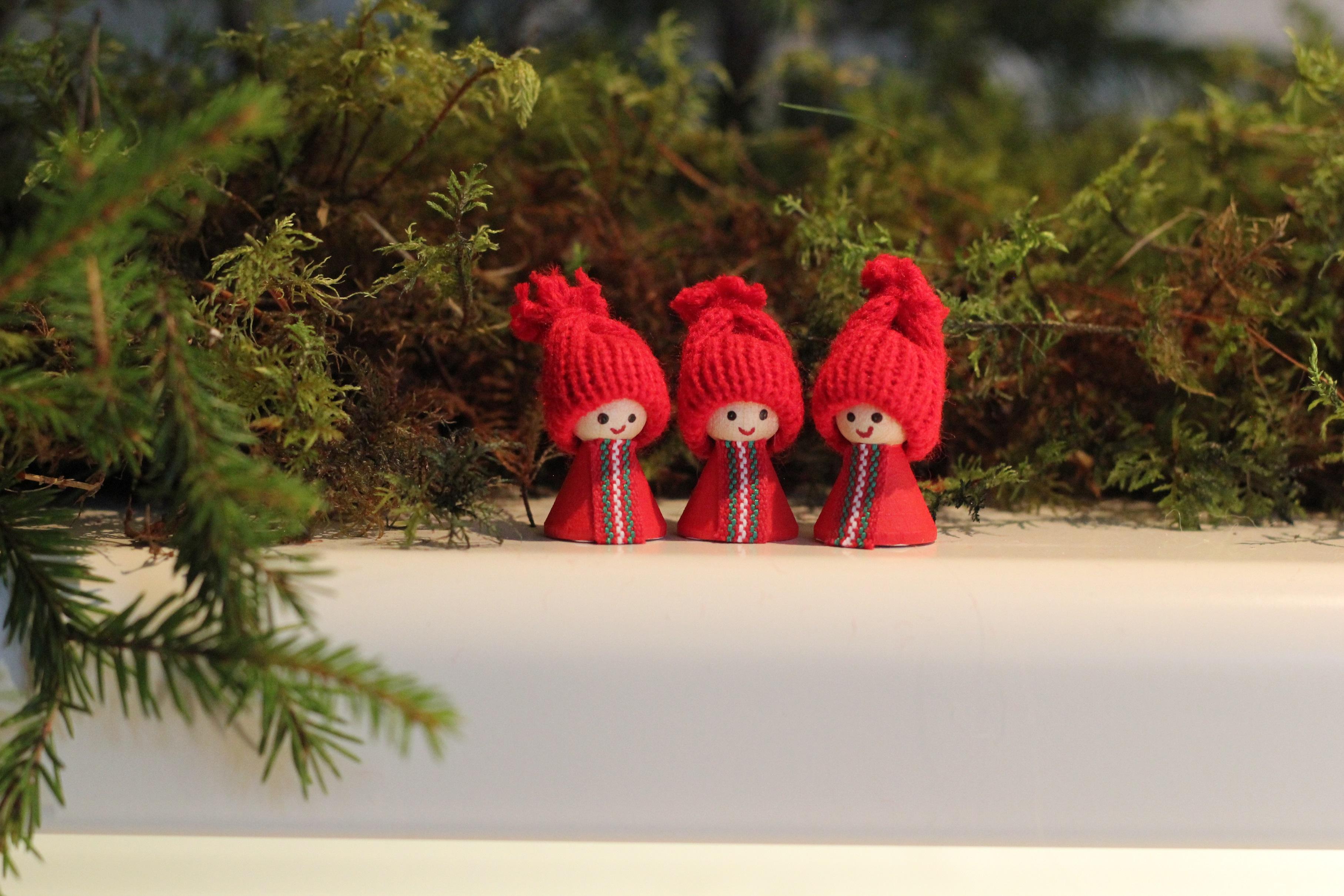 Minitomte röd 3-pack