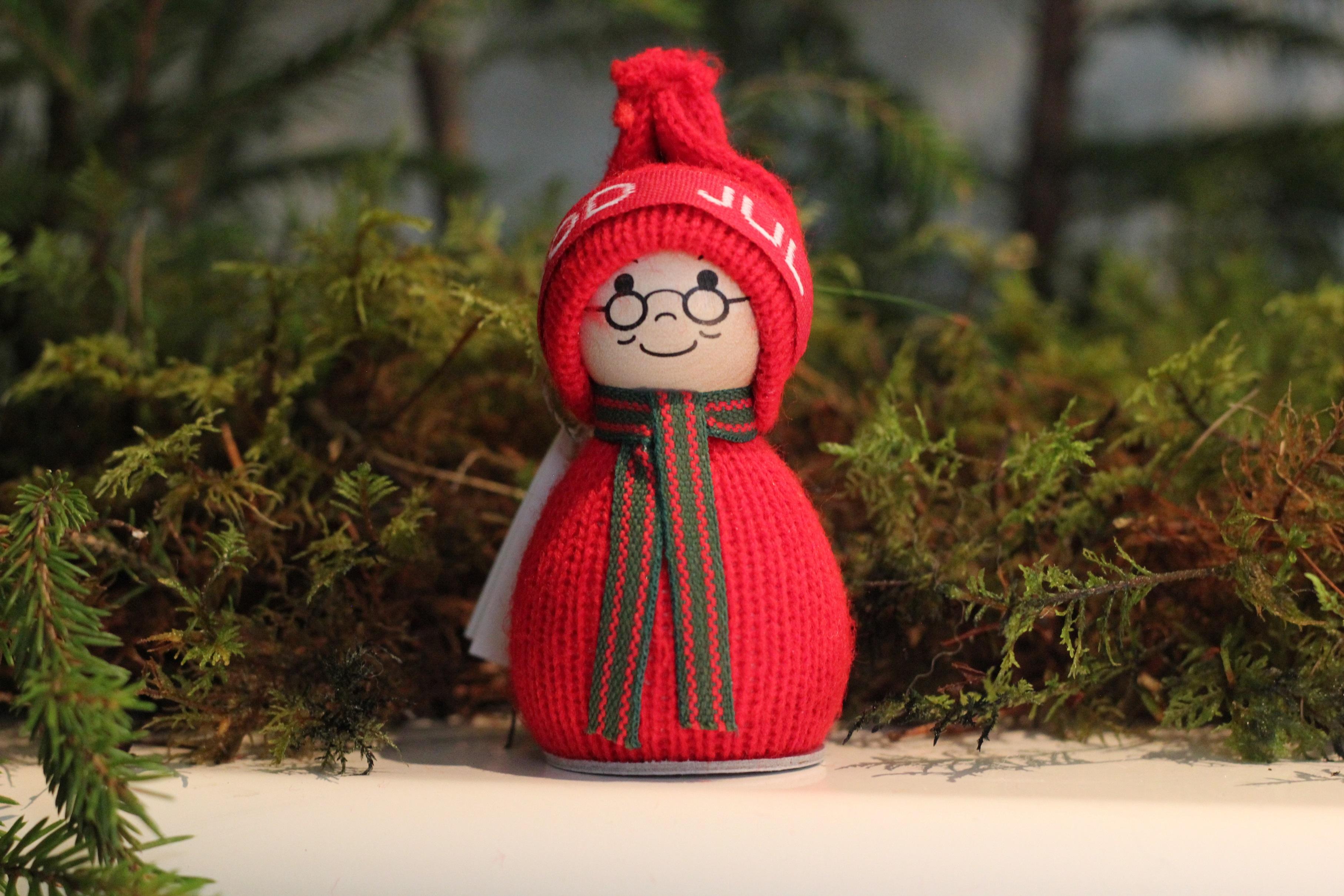 God jul-tomte (röd)