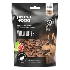 PrimaDog Wild Bites Viiriäinen ja orapihlaja, 150 g