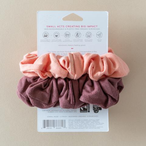Kooshoo scrunchie Coral Rose 4536