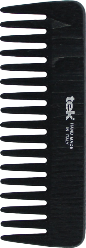 TEK Medium sized wooden comb with wide teeth Black 4536