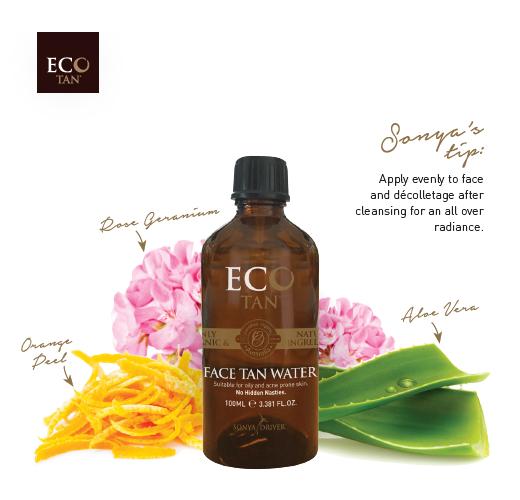 Organic Face Tan Water 100ml