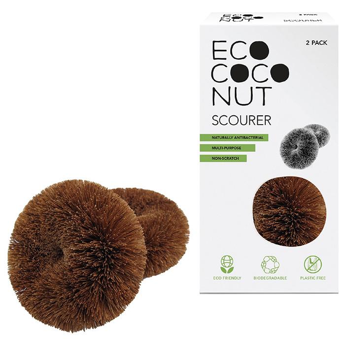 Skrubbisar av kokosnötsfiber 2-pack