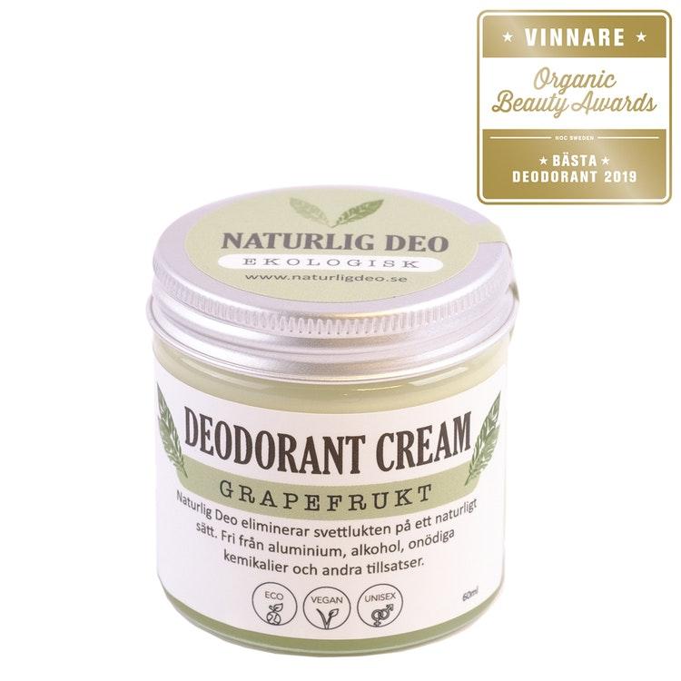 NaturligDeo Cream Grapefrukt - Ekologisk Deodorant 60ml