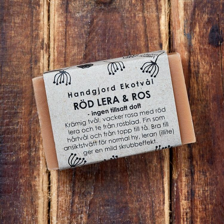Ekotvål Röd Lera & Ros - ingen tillsatt doft