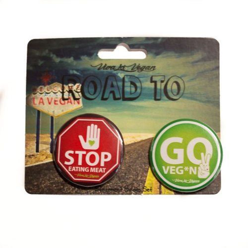 Pin 2-pack: Stop eating meat