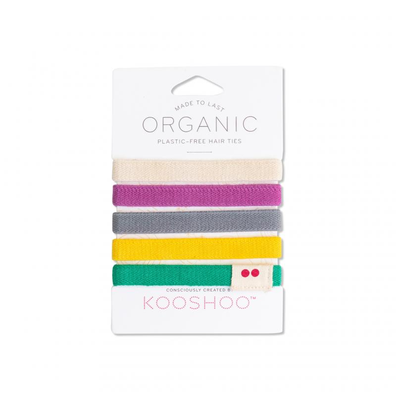 KOOSHOO Organic Hair Ties - Colorful 4536
