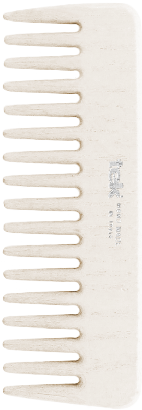TEK Medium sized wooden comb with wide teeth White 4536