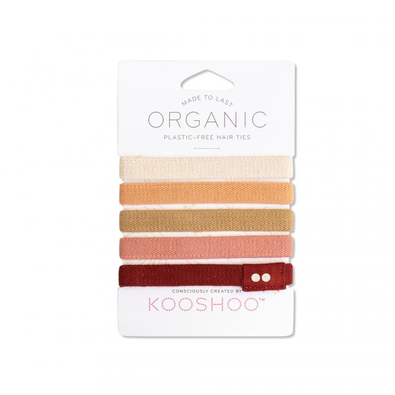 KOOSHOO Organic Hair Ties - Ginger 4536