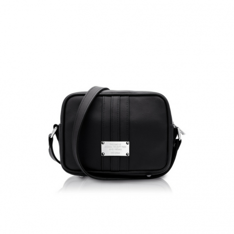 0.6 Midnight Black silver vegan bag