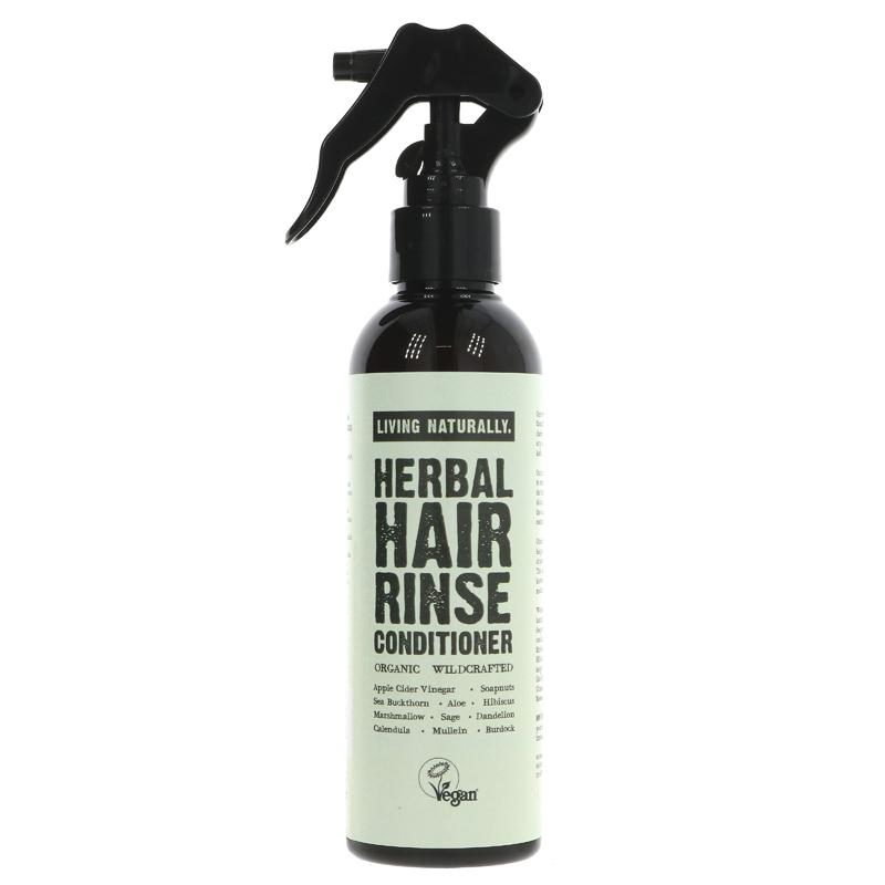 Living Naturally Herbal Hair Rinse Conditioner 200ml