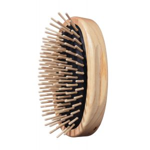 TEK Oval military style hair brush with short wooden pins 4536