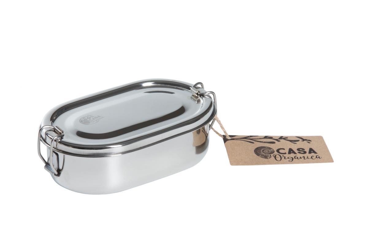 Oval snack box  – rostfritt stål