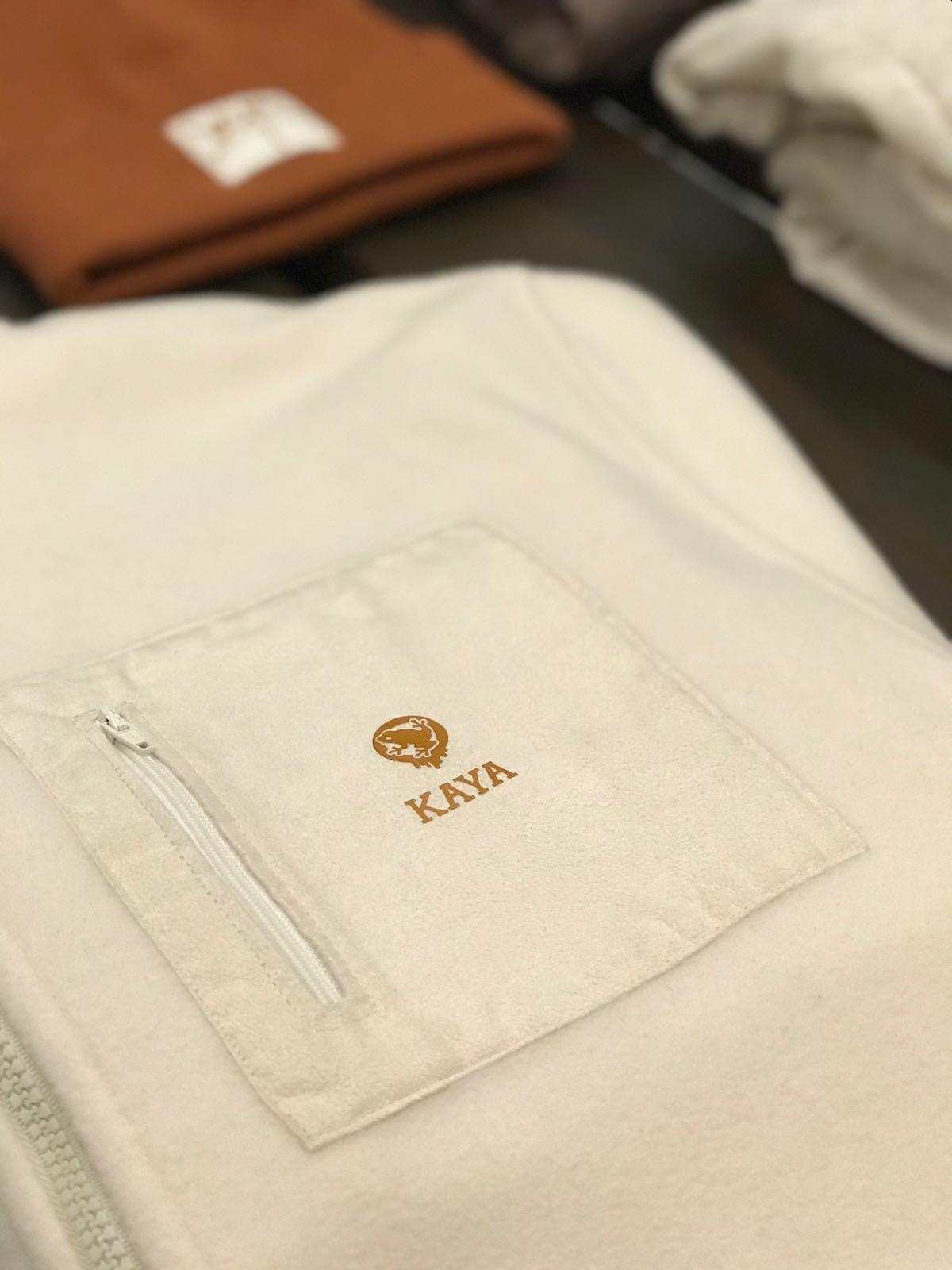 Fleece Full Zip Off White