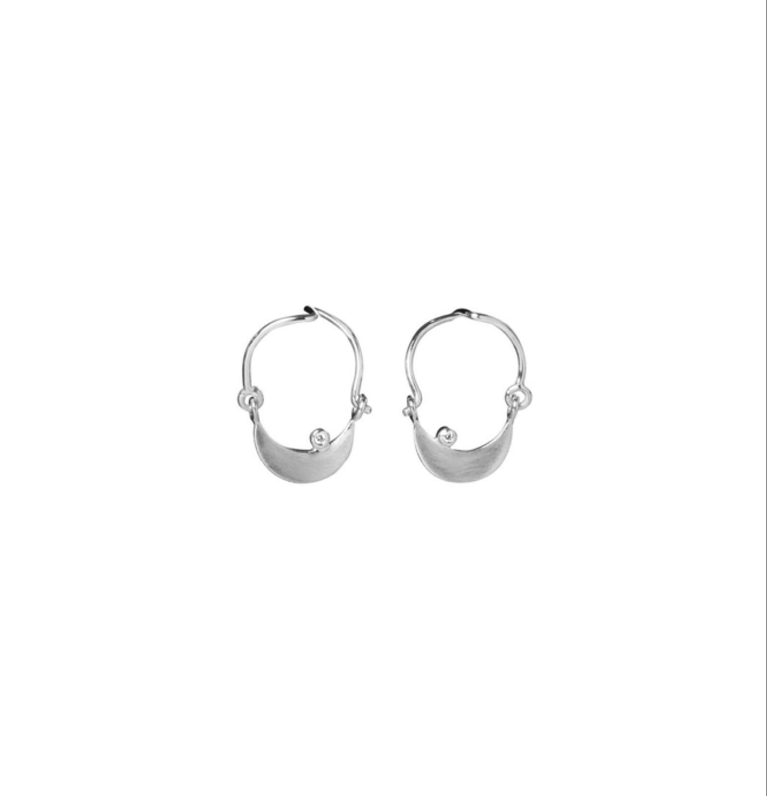 Kivilai   Moon & cz hoop earring