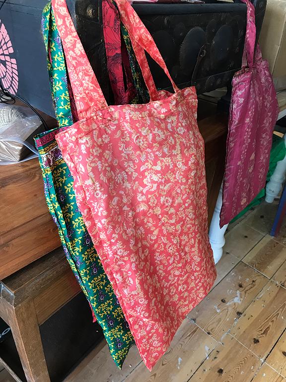 Vintage Sari A4 Bag