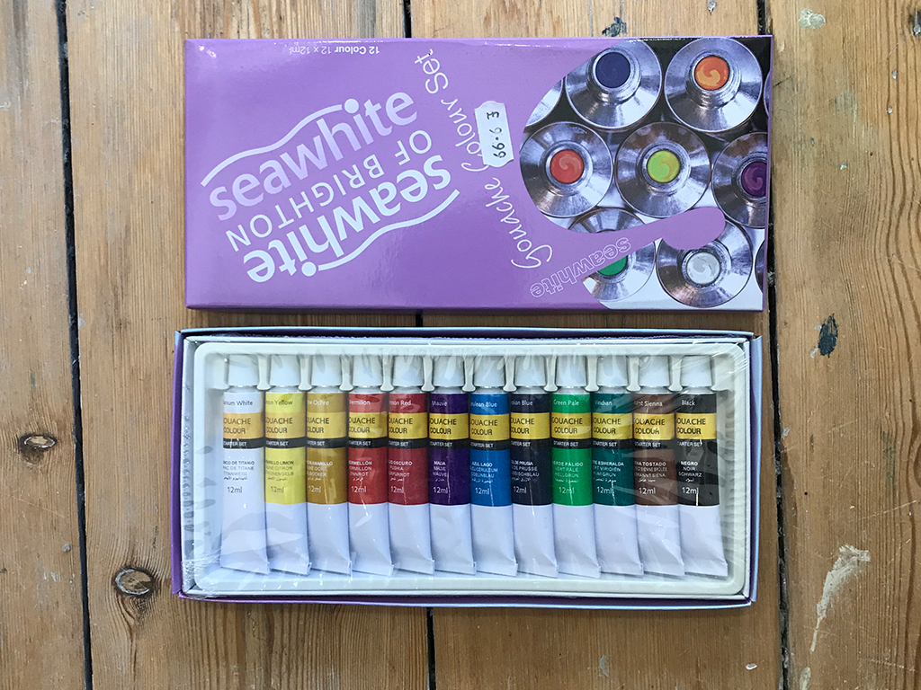 Gouache Paint Tube Set 12 piece