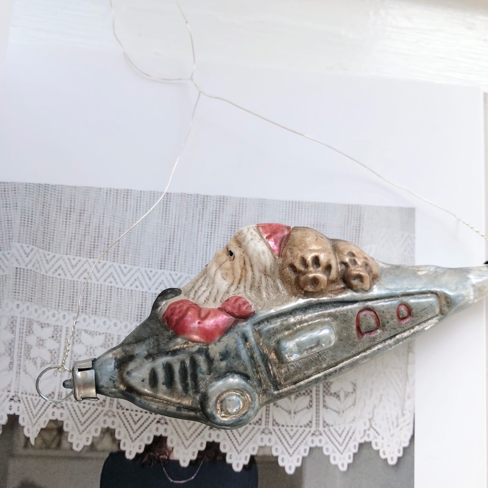 Flyvende Julemand Glasornament