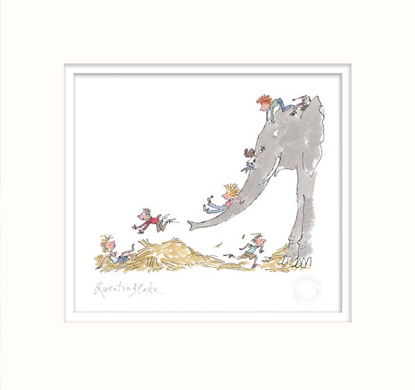 It's large and grey and lots of fun - Quentin Blake