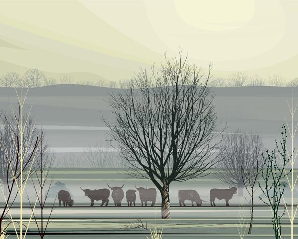 Misty Morning - Original Print by Dan Crisp