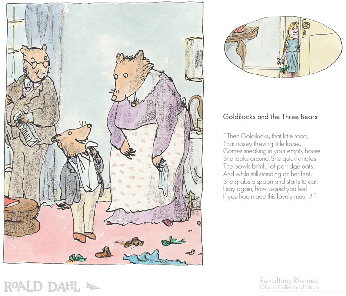 Revolting Rhymes - Roald Dahl ( 6 Different Images)