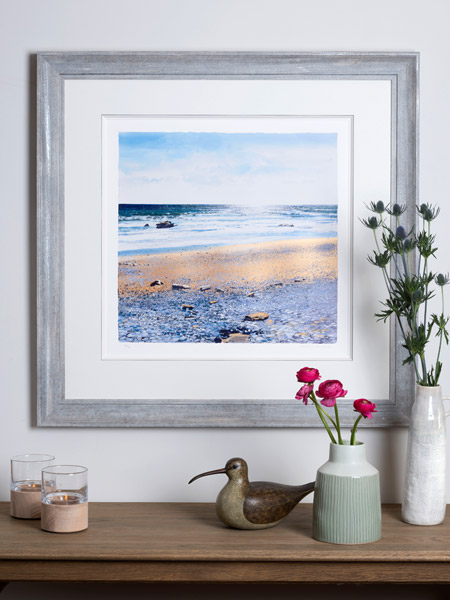 Sparkling Sea by Paul Evans by Paul Evans - Giclée Print with Silk Screens