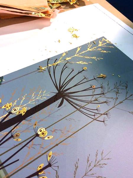 Still Pasture ( Print With Silk Screens) by Dan Crisp