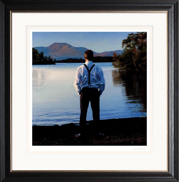 Loch Lomond, Last Sun - Limited Edition Giclée Print by Iain Faulkner