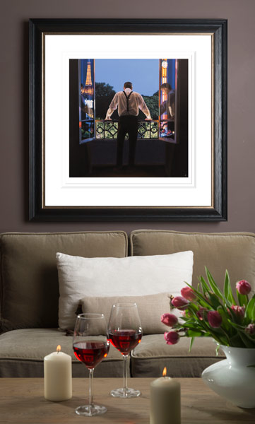 Paris 7.48pm By Iain Faulkner Premounted  Giclee  Reproduction