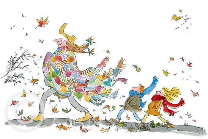 Her lovely ragged patchwork cloak - Quentin Blake