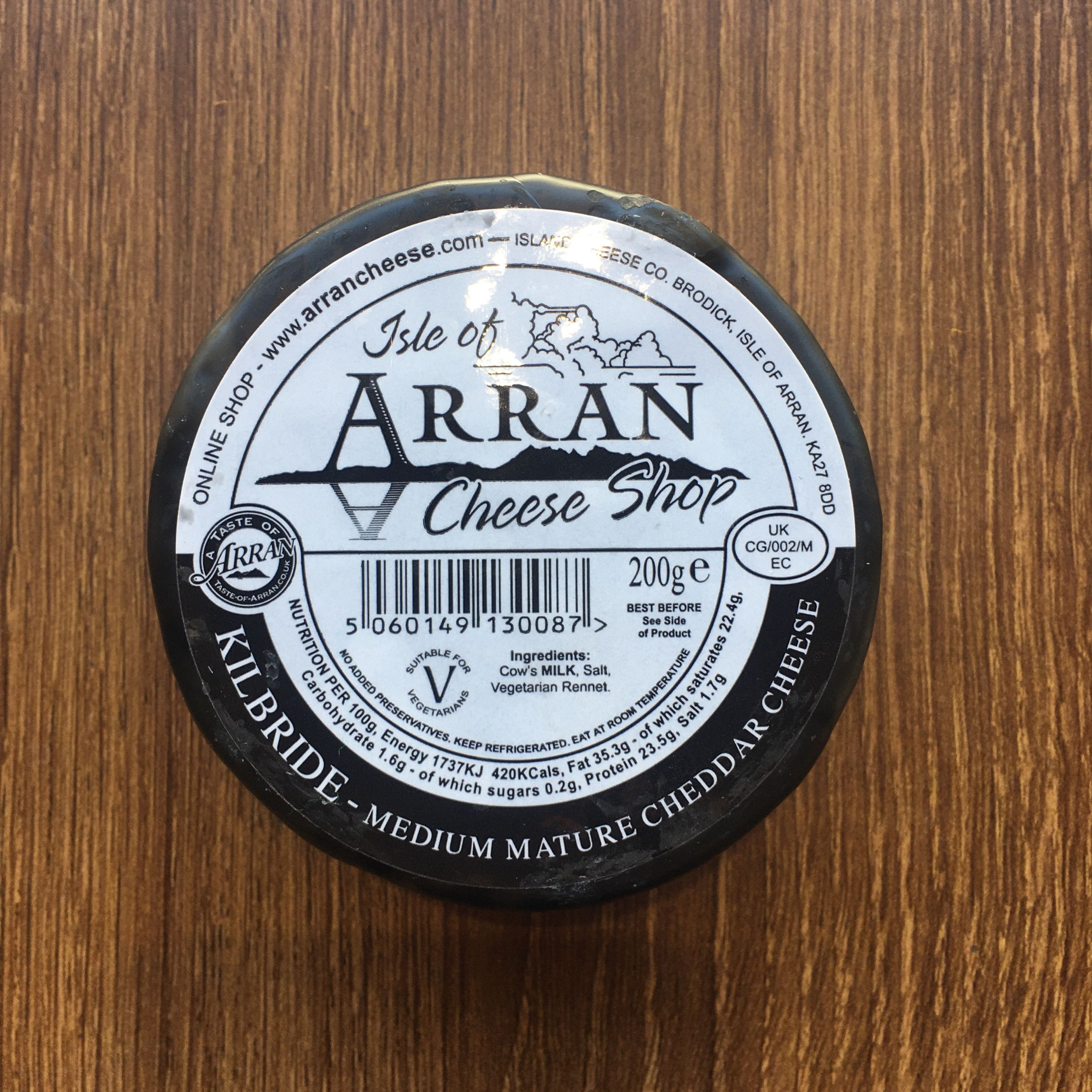 Kilbride Arran Waxed Cheese