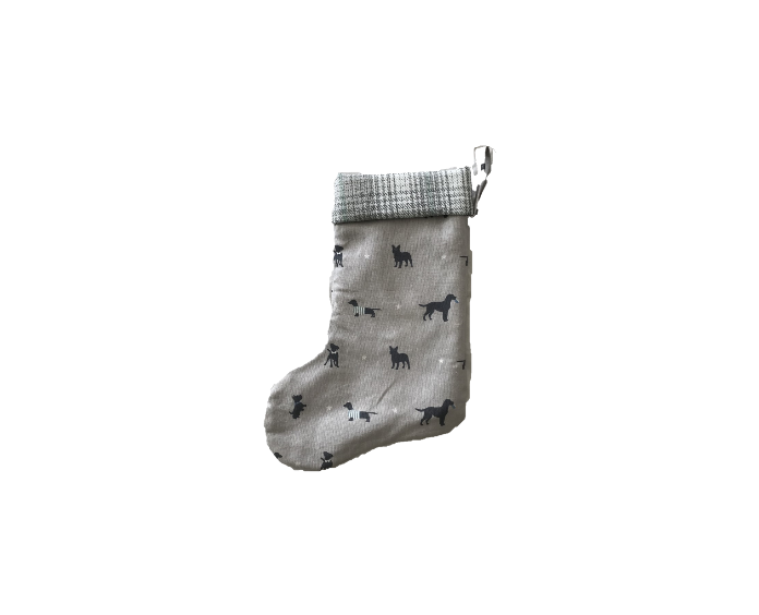 Christmas Stocking Grey Dogs **Was £11.95 Now £6.95**
