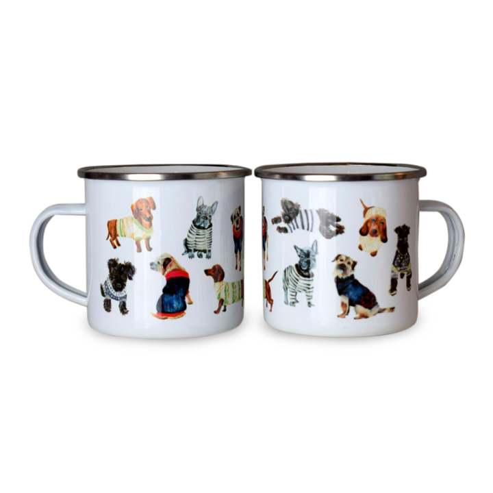Dogs in Jumpers - Enamel Mug