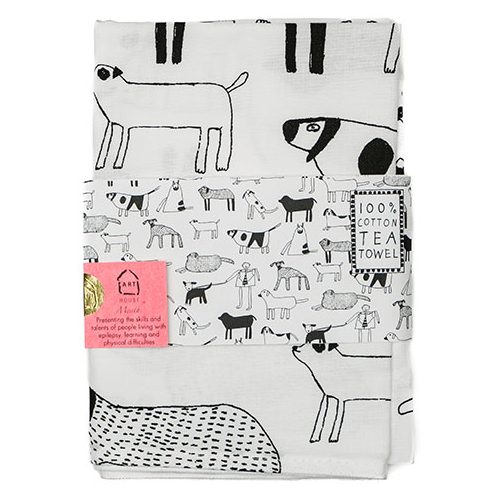 Isobel's Dogs Tea Towel