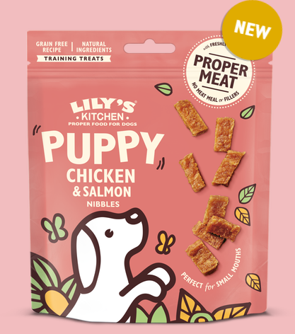 Lily's Kitchen Chicken and Salmon Nibbles Puppy Treats 70g