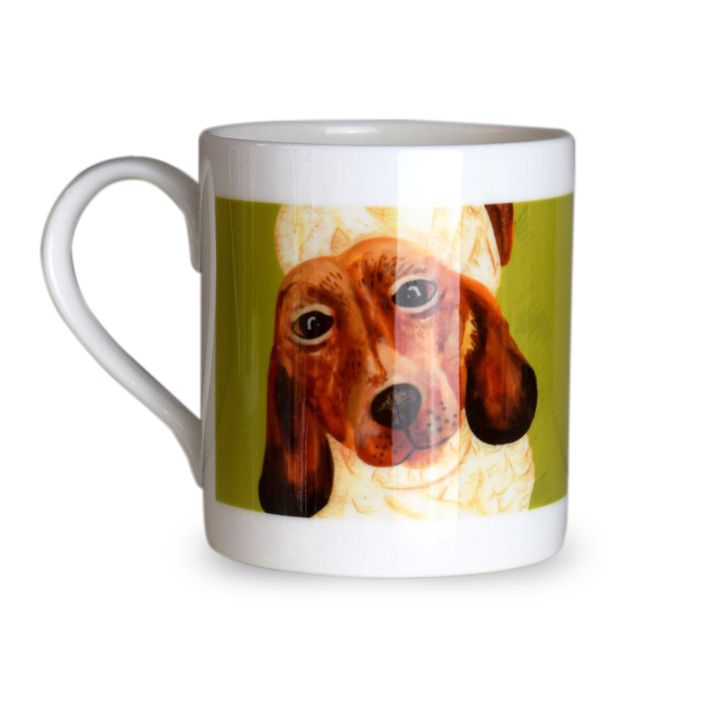Dogs in Jumpers Bone China Mug - Sausage Dog