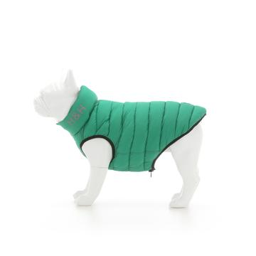 Hugo & Hudson Dog Puffer Jacket - Dark Green & Grey