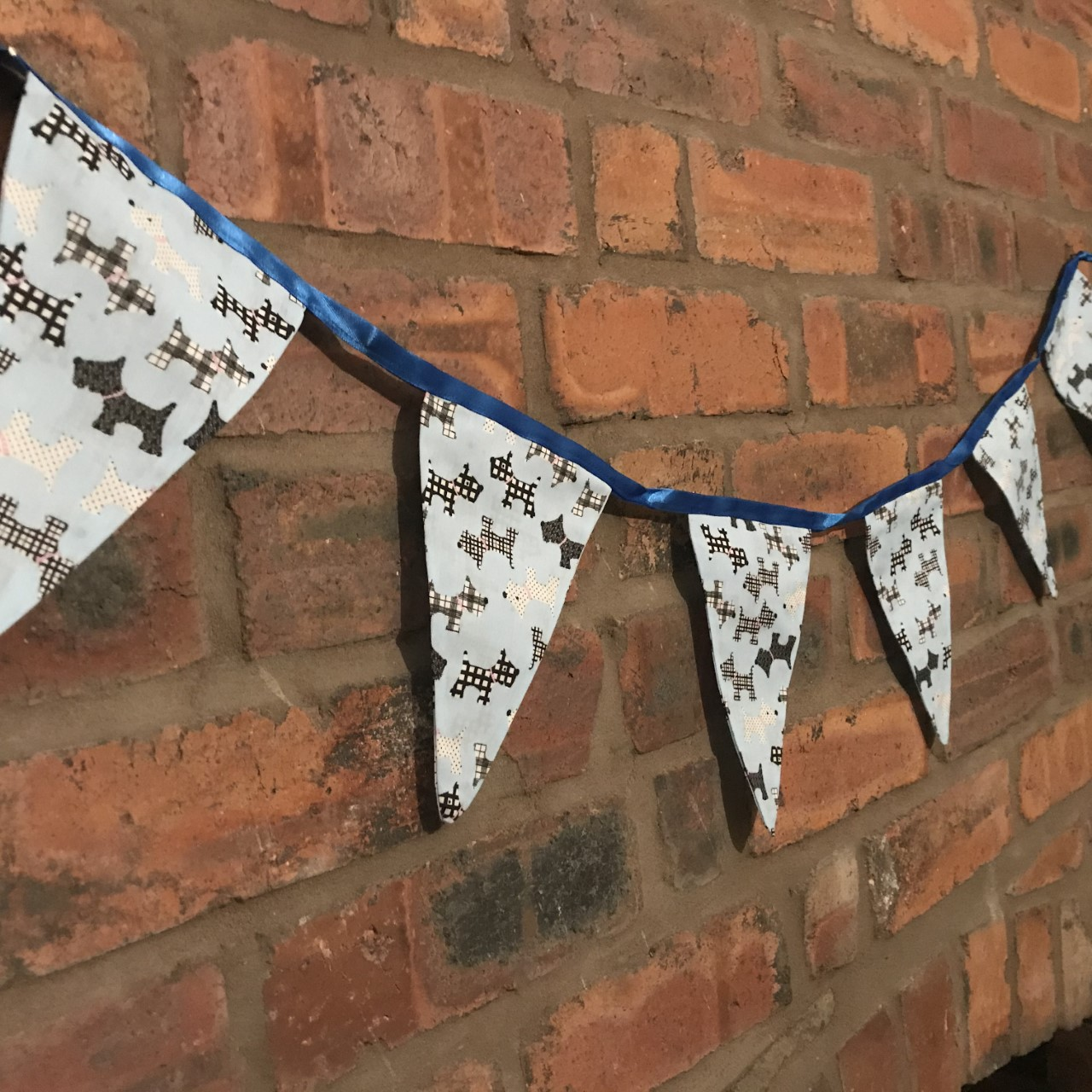 Bunting - Light Blue Dog Print (3 metres) **Was £10.00 Now £5.00**