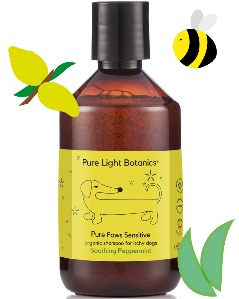 Pure Light Botanics Pure Paws Sensitive Organic Shampoo For Itchy Dogs 250ml