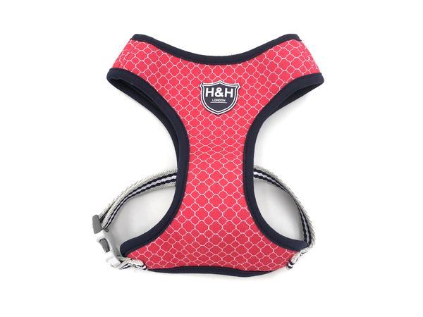 H&H Dog Harness Fuchshia Pink Geometric