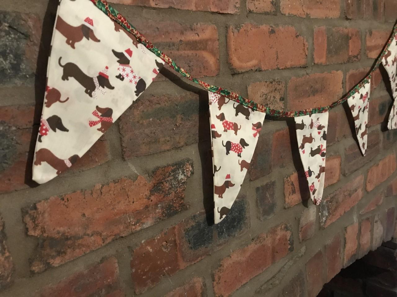Bunting - Christmas Dog Print (3.5 metres) *Was £10.00 Now £5.00**