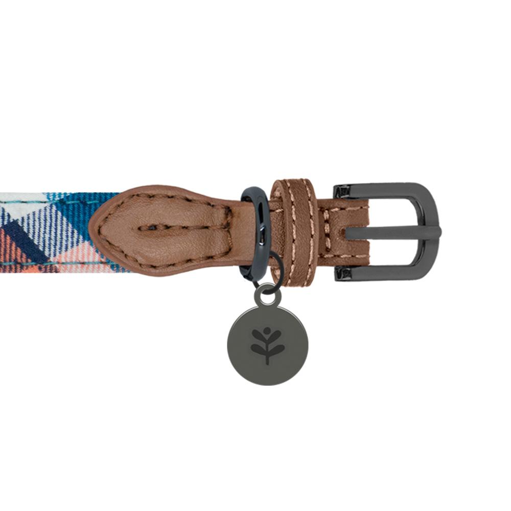 Sötnos Puppy Bow Collection - Collar Tartan Design Brown