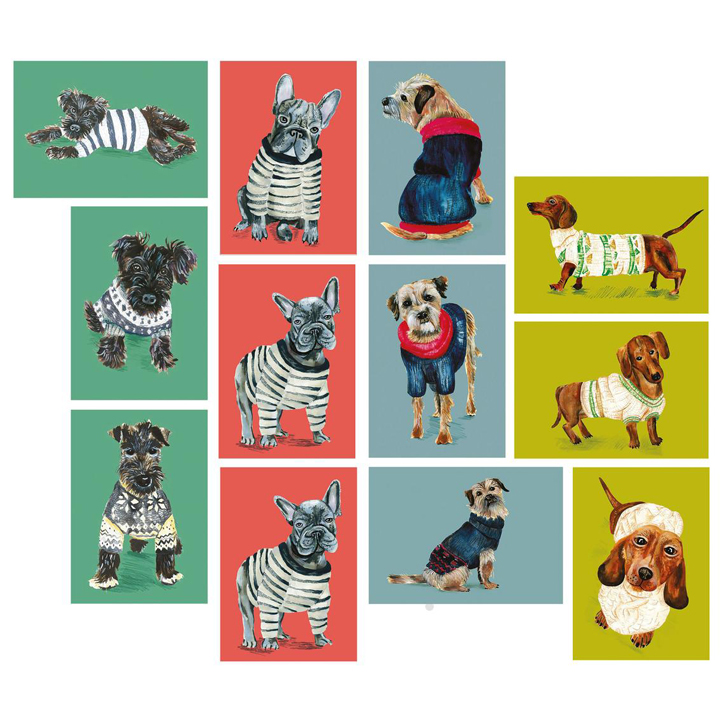 Dogs in Jumpers - Postcard Set