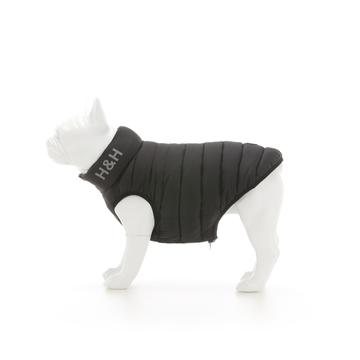 Hugo & Hudson Dog Puffer Jacket - Black & Grey