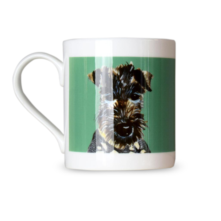 Dogs in Jumpers Bone China Mug - Schnauzer