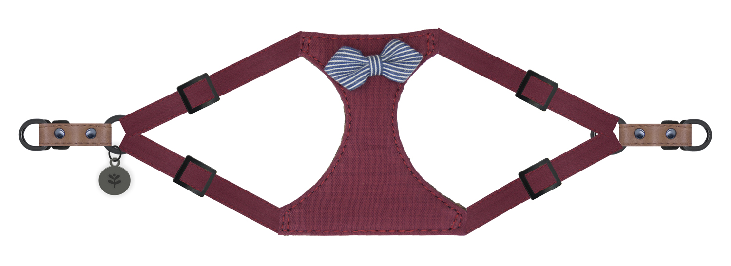 Sötnos Puppy Bow Collection - Harness Nautical Red