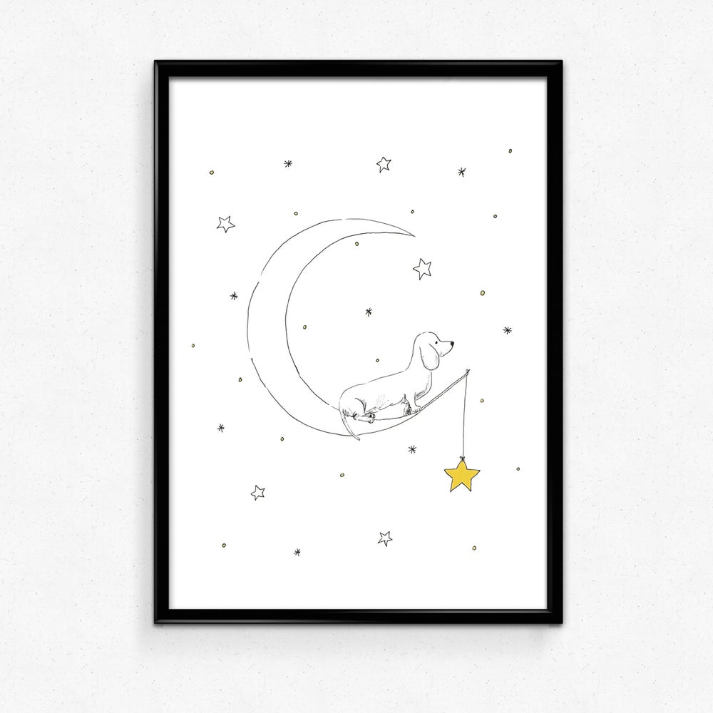Tabby Rabbit - Catching Stars, A4 print **Was £10.00 Now £5.00**