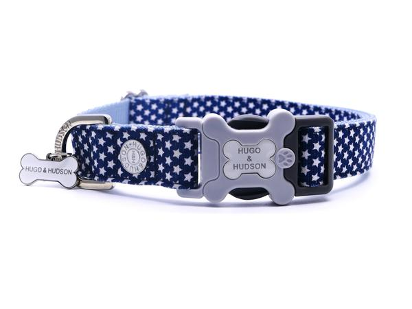 H&H Dog Collar Navy Star